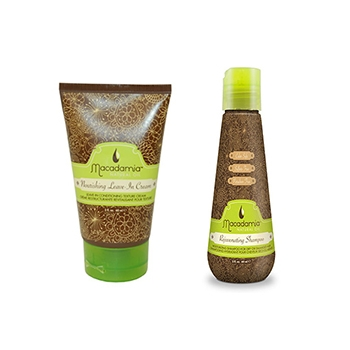 Macadamia Nourishing Leave In Cream 60ml+Macadamia Rejuvenating Shampoo 60ml