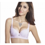 Tugevdustega ilma padjakesteta roosa pitsiline rinnahoidja-75A