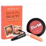 ModelCo Quick Fix Beauty komplekt (põsepuna + must ripsmetušš + huuleläige)