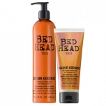 Tigi Bed Head Colour Goddess Oil Infused kmpl 400ml+200ml ( šampoon ja palsam, värvitud juustele)