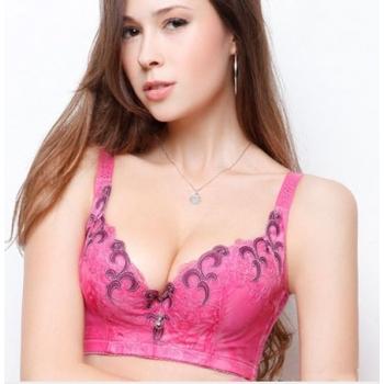 Kaunis mustriline roosa rinnahoidja-75C