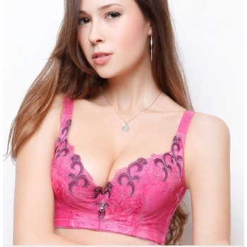 Kaunis mustriline roosa rinnahoidja-80B