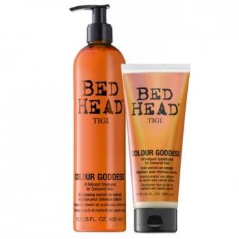 Tigi Bed Head Colour Goddess Oil Infused kmpl 400ml+200ml ( šampoon ja palsam, värvitud juustele)