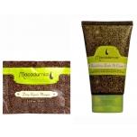 Macadamia Deep Repair Masque 15ml (taaselustav juuksemask kuivadele ja kahjustatud juustele)+Macadamia Nourishing Leave-In Cream 60ml (juustessejäetav hoolduskreem)
